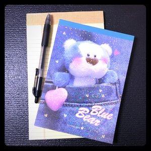 Blue Bear Letter Pad Stationery Set